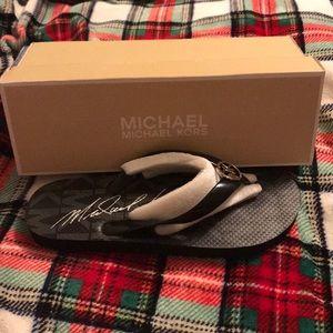Michael Kors Flip Flops Size 8